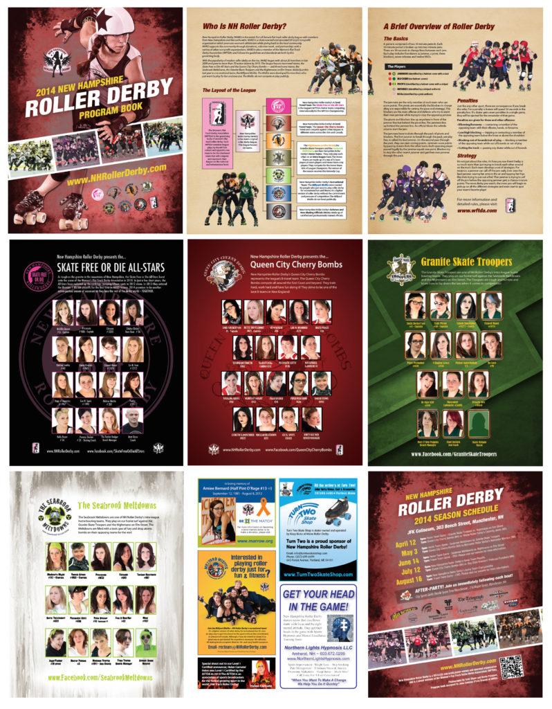 Roller Derby Season Program Book